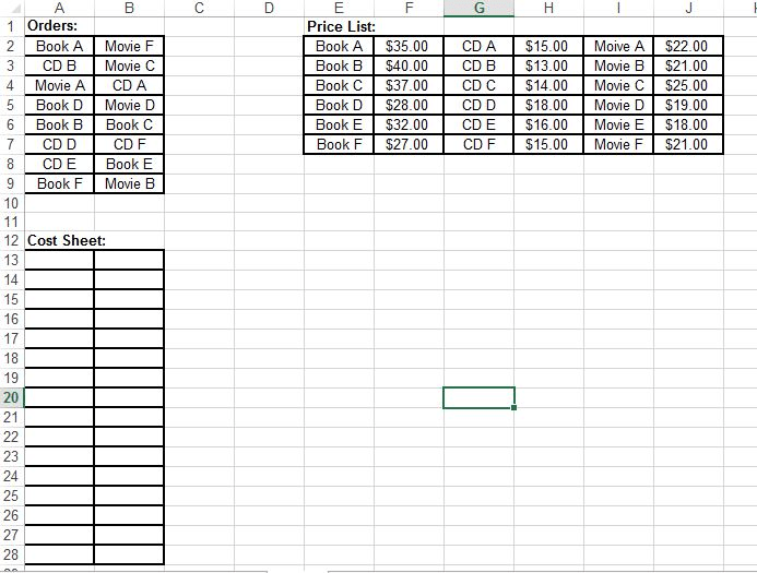 Excel VBA Help Please. The Question States,