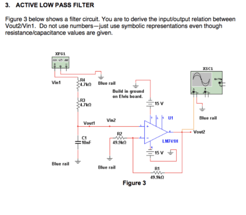 small resolution of active low pass filter figure 3 below shows a filter circuit you are