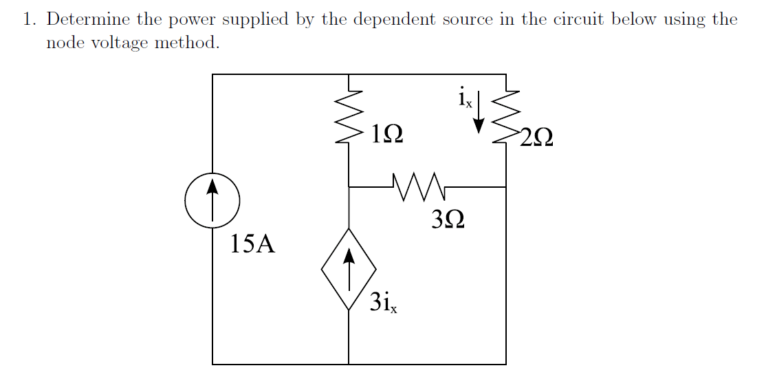 Solved: Determine The Power Supplied By The Dependent Sour