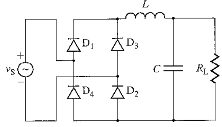 The Single Phase Bridge Rectifier Shown Below Is S
