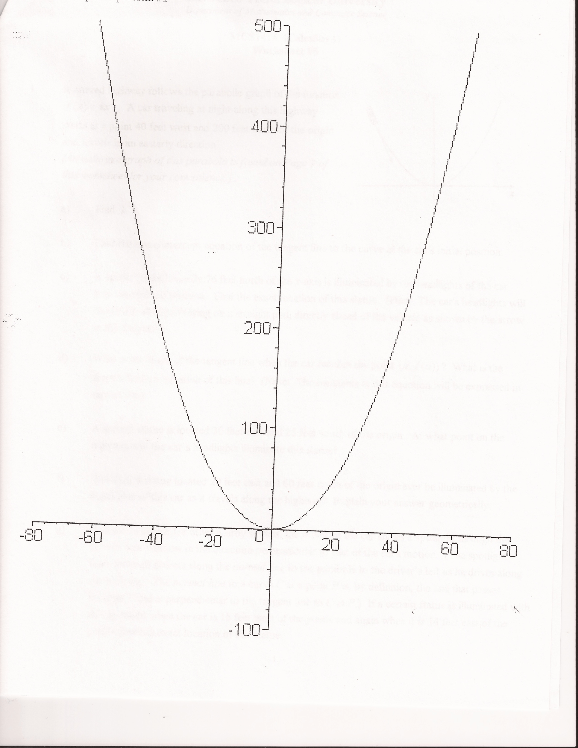 Solved An Enlarged Graph Of This Parabola Is Found On Pa