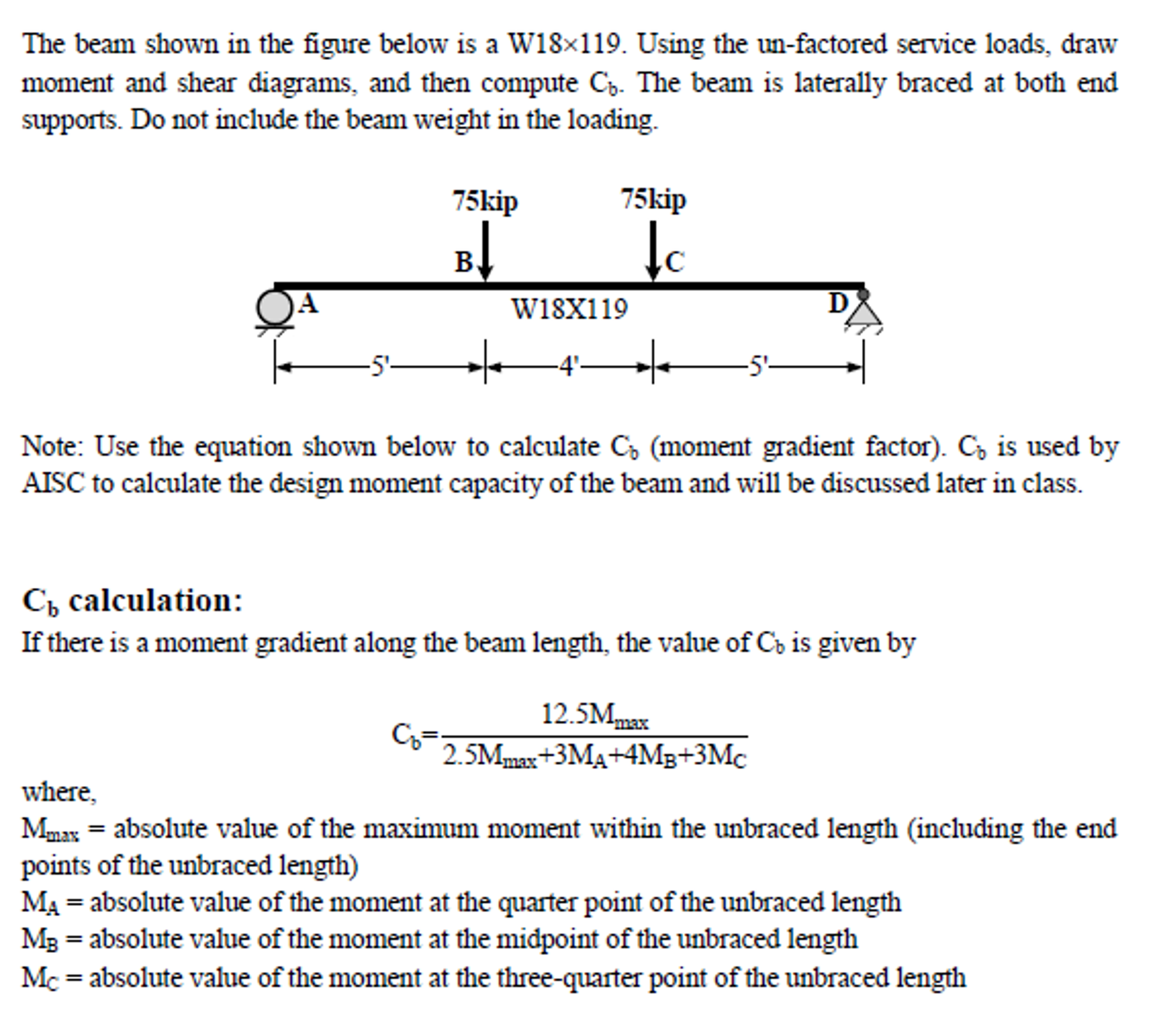 Aisc Beam Moment Diagrams