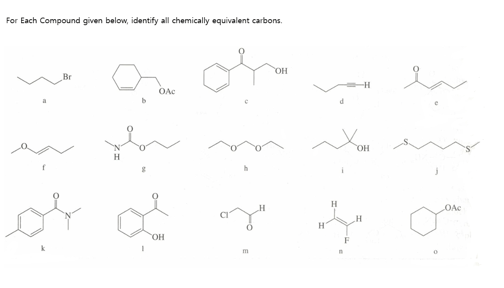 Solved: For Each Compound Given Below, Identify All Chemic