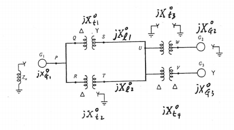 Solved: Draw The Zero-sequence Network For The One-line Di