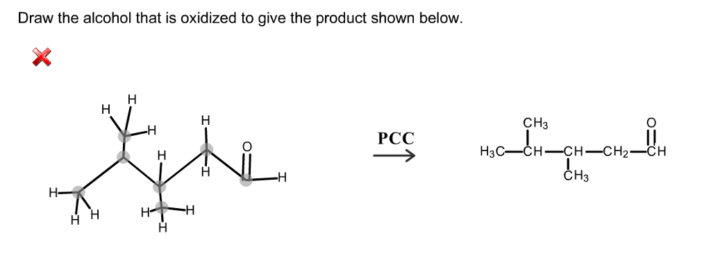 Solved: Draw The Alcohol That Is Oxidized To Give The Prod