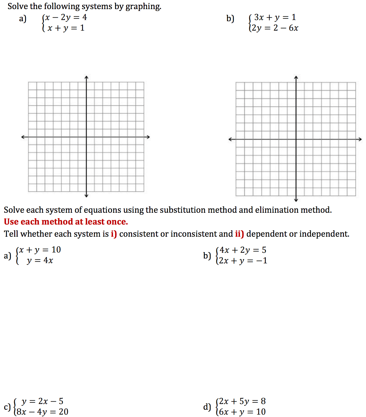 Solved Solve The Following Systems By Graphing Solve Eac