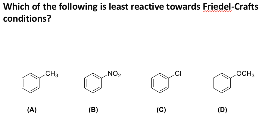 Solved: Which Of The Following Is Least Reactive Towards F