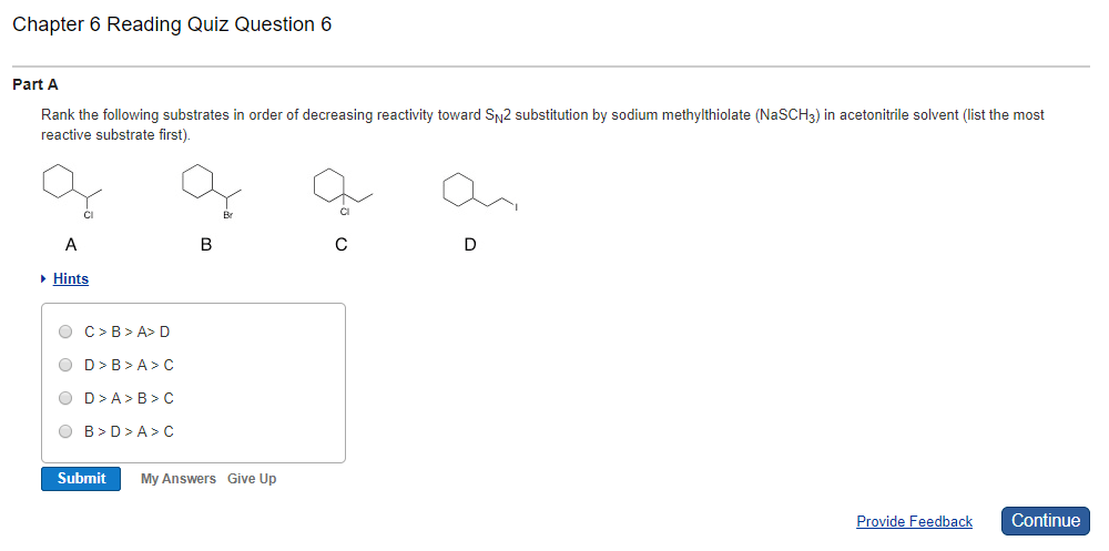 Solved: Chapter 6 Reading Quiz Question 6 Part A Rank The