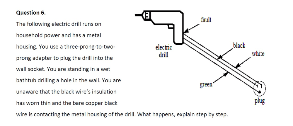 medium resolution of the following electric drill runs on household pow