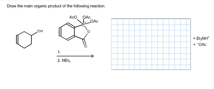 Solved: Draw The Main Organic Product Of The Following Rea