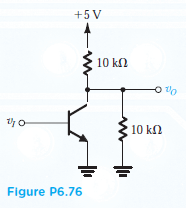 Solved: The Transistor In The Circuit Of Fig. P6.76 Is Bia