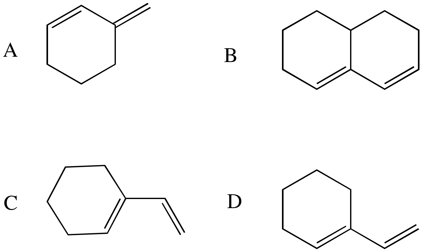Solved: Which Of The Following Conjugated Dienes Would Not