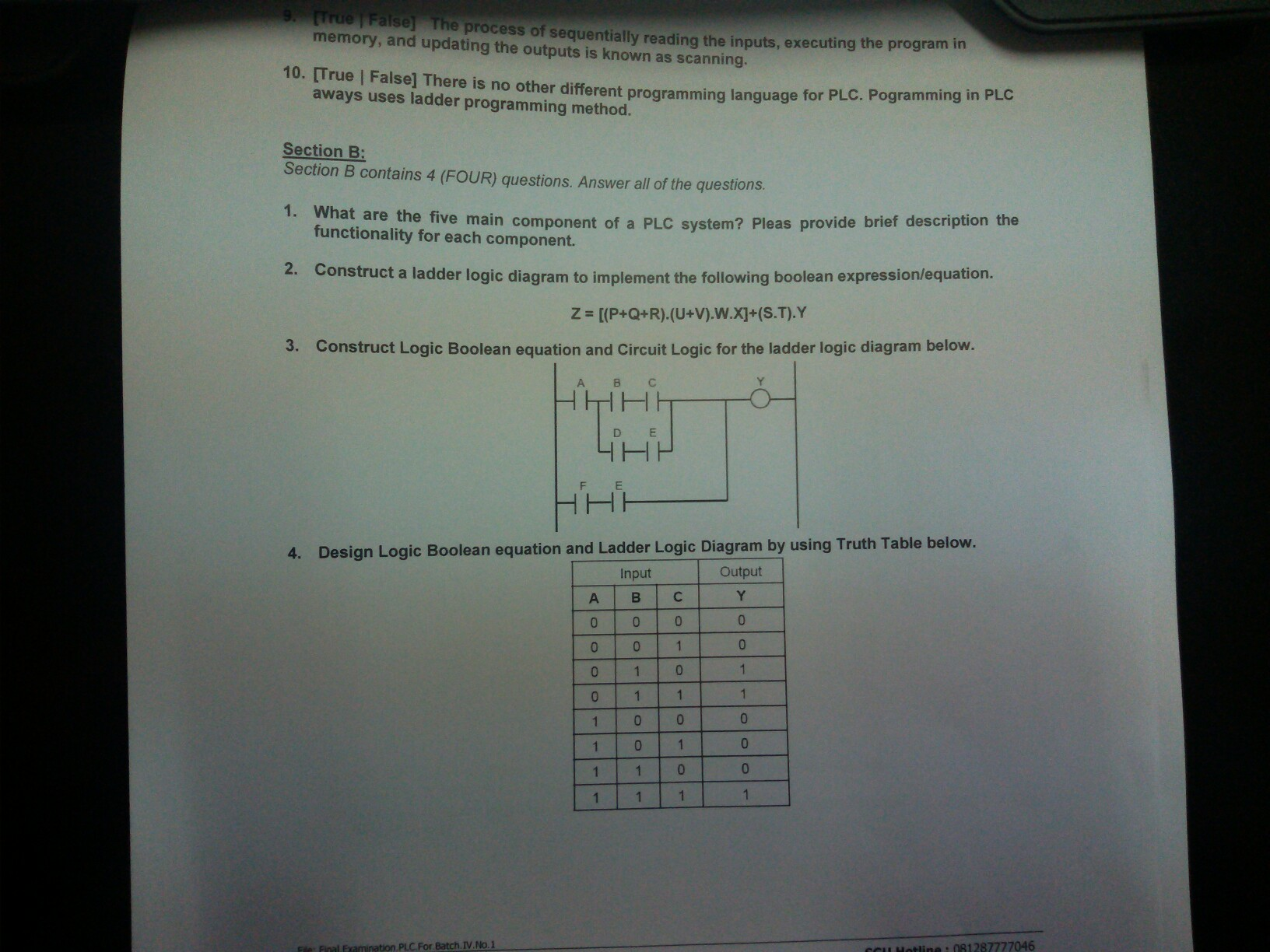 hight resolution of solved what are the five main component of a plc system ladder logic symbols and meanings reading a ladder logic diagram