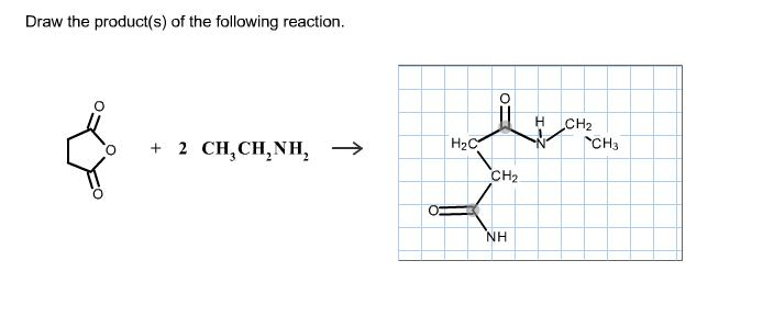 Solved: Draw The Product(s) Of The Following Reaction