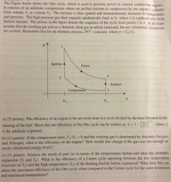 question the figure below shows the otto cycle which is used to generate power in internal combustion eng  [ 974 x 1024 Pixel ]