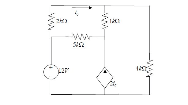 Use The Node-voltage Method To Find The Current I0