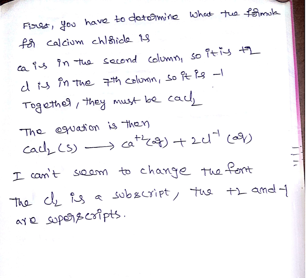What Is The Net Ionic Equation For Dissolution Of Cacl2 In