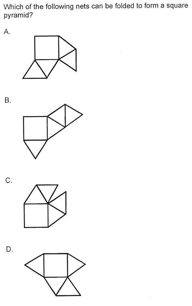 Solved: Which Of The Following Nets Can Be Folded To Form