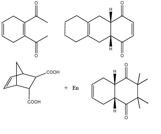 Solved: Draw The Starting Materials (diene And Dienophile