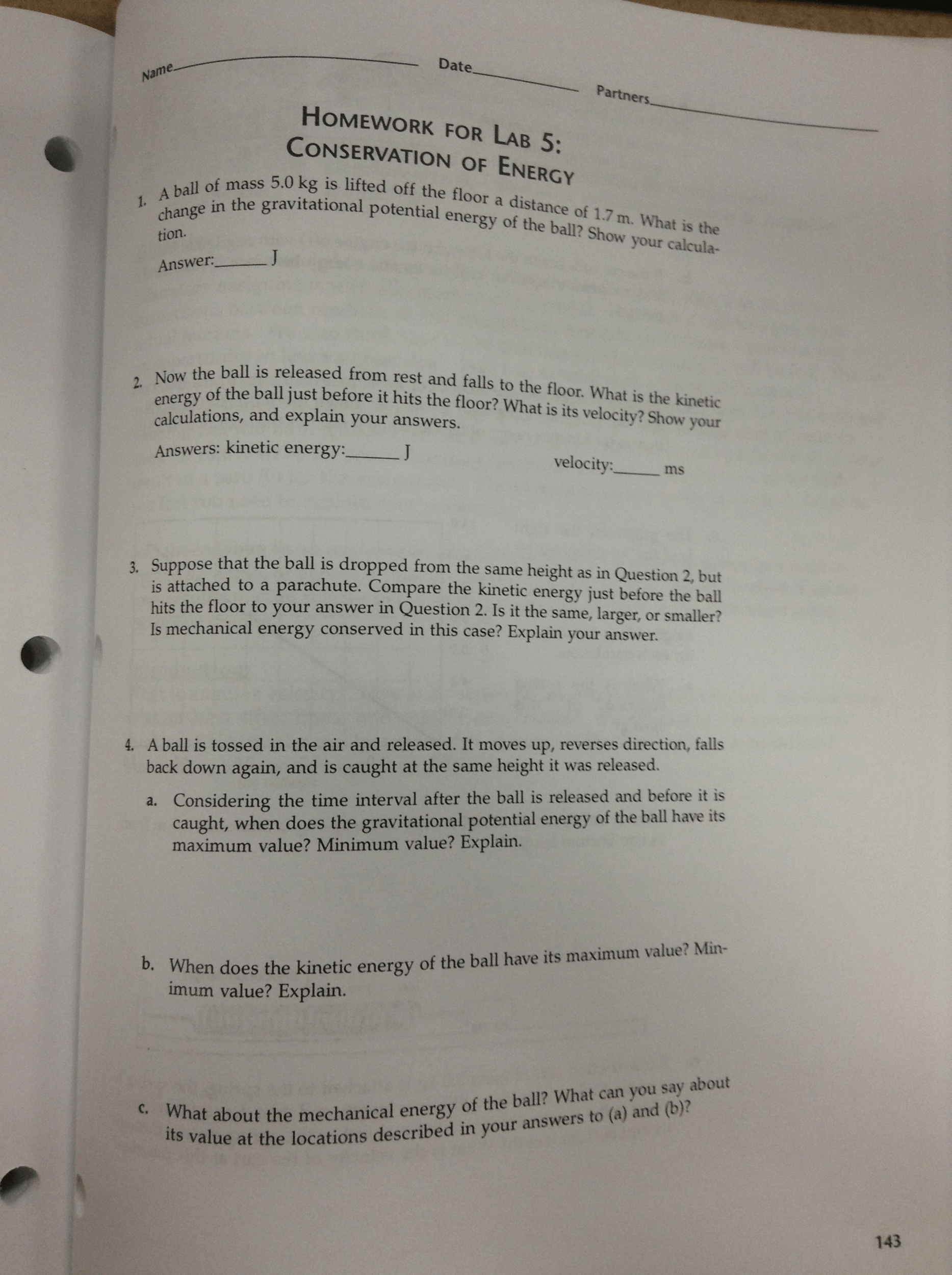 Conservation Of Momentum In One Dimension Homework Answers