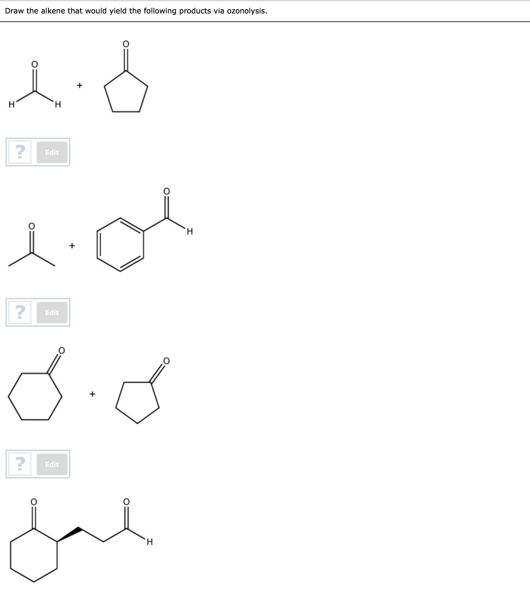 Solved: Draw The Alkene That Would Yield The Following Pro