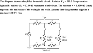 Solved: The Diagram Shows A Simplified Household Circuit