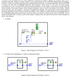 question problem 11 25 points for each of the following labview block diagrams determine the numeric v  [ 819 x 1024 Pixel ]