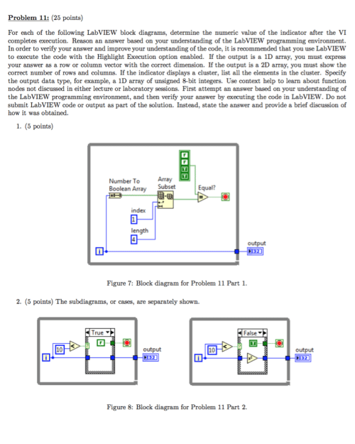 small resolution of question problem 11 25 points for each of the following labview block diagrams determine the numeric v