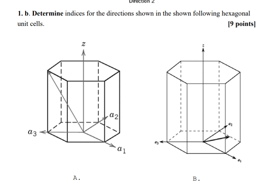Solved: Direction 2 1. B. Determine Indices For The Direct