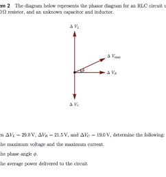 problem 2 the diagram below represents the phasor diagram for an rlc circuit using an 82 0 [ 1024 x 831 Pixel ]