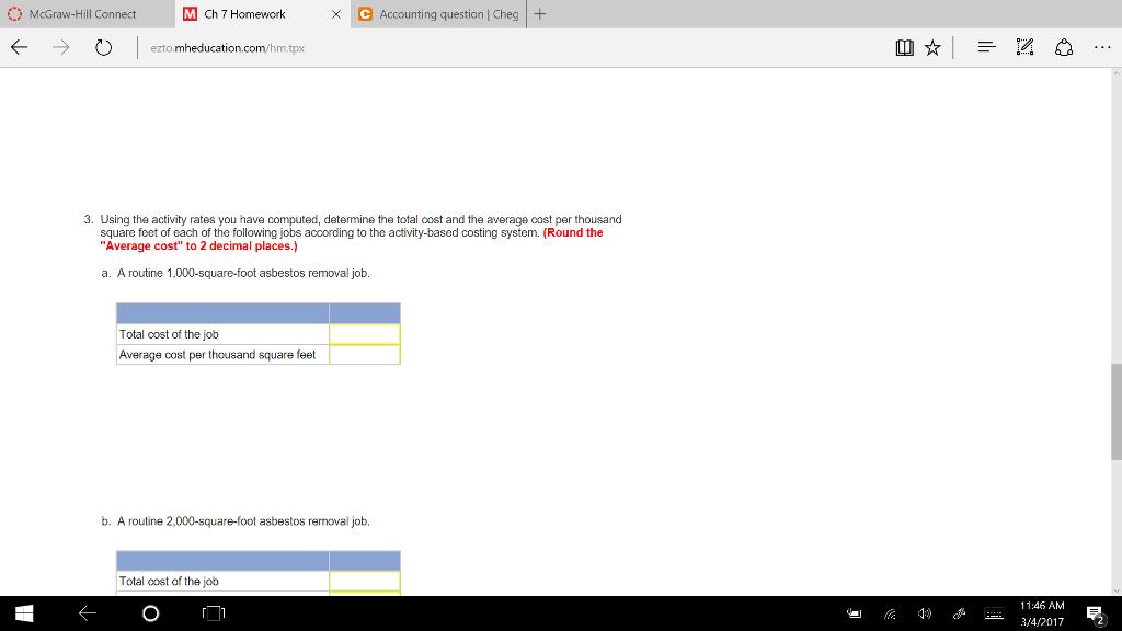 Solved: M Ch 7 Homework X C Accounting Question Cheg McGra