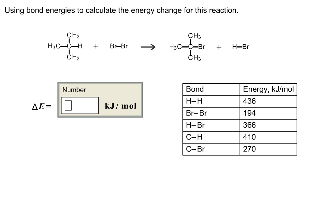 solved using bond energies