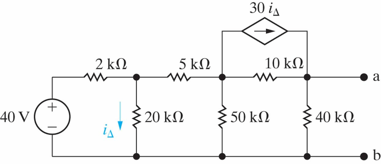 Solved: Find The Thevenin Equivalent Circuit For The Follo