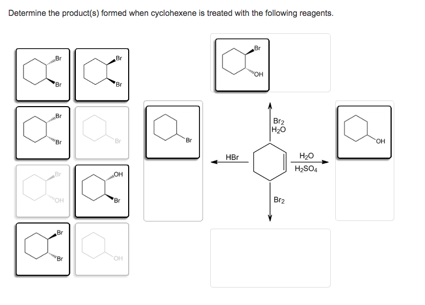 Solved: Determine The Product(s) Formed When Cyclohexene I