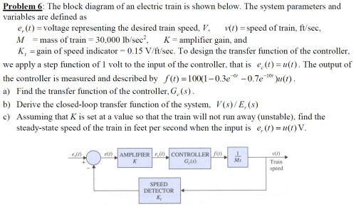 small resolution of the block diagram of an electric train is shown be