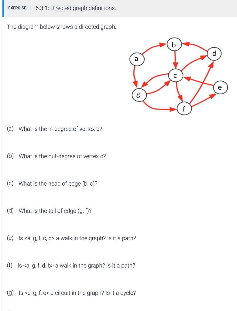 medium resolution of exercise 6 3 1 directed graph definitions the diagram below shows a directed graph