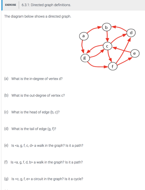 small resolution of exercise 6 3 1 directed graph definitions the diagram below shows a directed graph