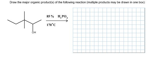 Solved: Draw The Major Organic Product(s) Of The Following