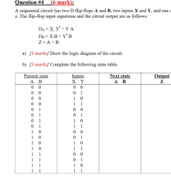 question 4 6 mark a sequential circuit has two d flip  [ 1024 x 856 Pixel ]