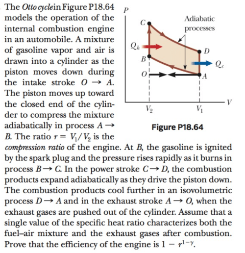 small resolution of question the otto cyclein figure p18 64 models the operation of the internal combustion engine in an autom