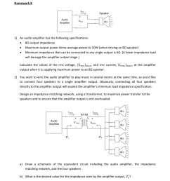 an audio amplifier has the following specification [ 1536 x 1470 Pixel ]