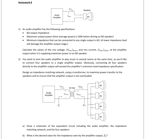 small resolution of an audio amplifier has the following specification