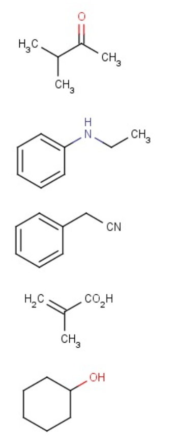 Solved: Choose The Compound Responsible For The IR Spectru