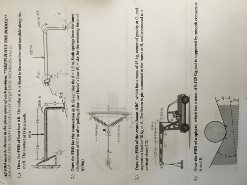 small resolution of all fbd must be drawn in the given space of each problem sketch out the