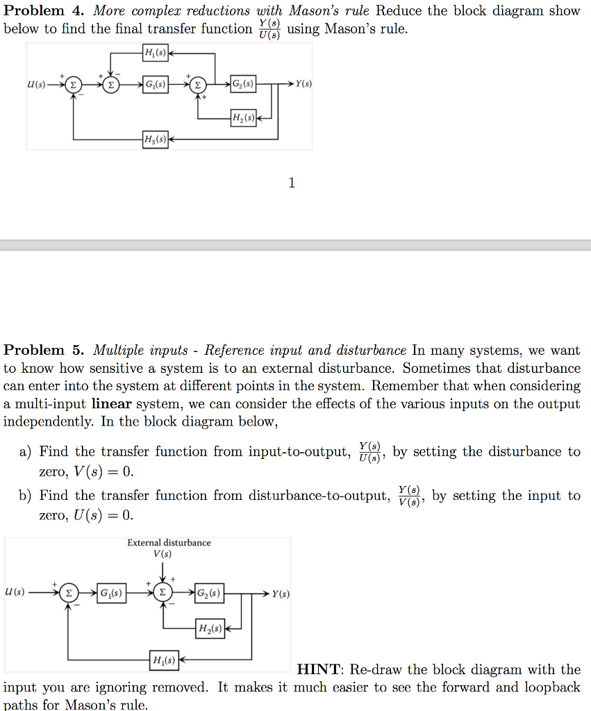hight resolution of more compler reductions with masons rule reduce the block diagram show y