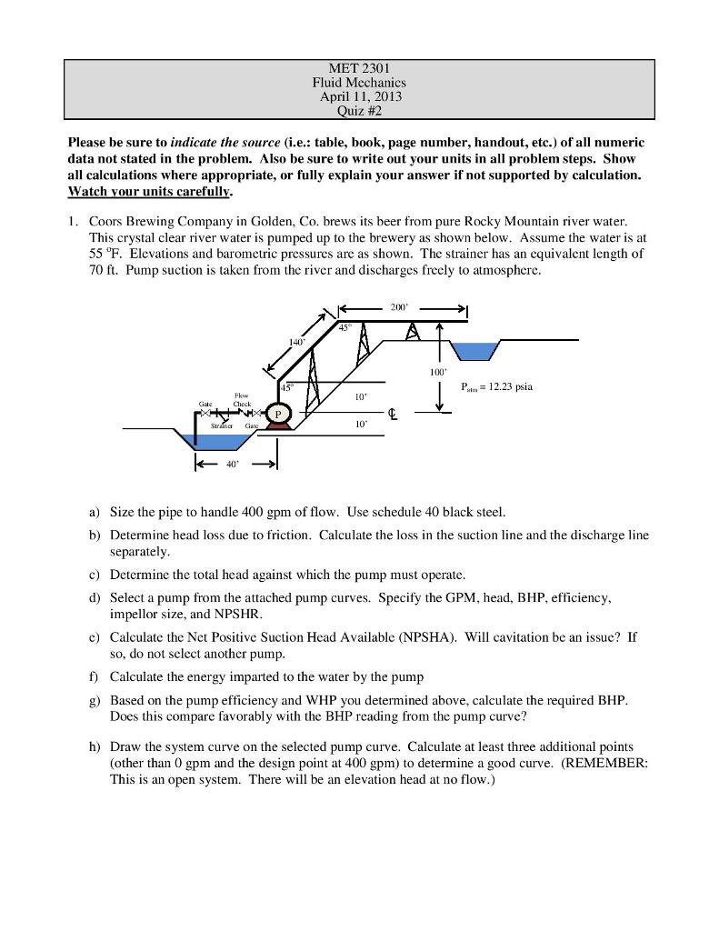 hight resolution of met 2301 fluid mechanics april 11 2013 quiz 2 please be sure to indicate