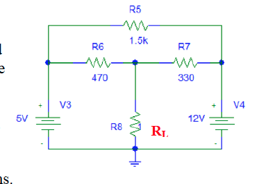 media%2Fdc0%2Fdc07e802 c1f5 4ea9 b786 c30af7c36315%2Fphp0JEh5v - Based on the circuit schematic above, apply superposition to determine the Thevenin equivalent by calculation VOC, ISC, and RTH