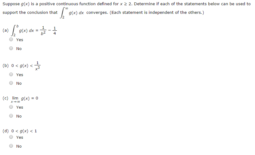 Solved: Suppose G(x) Is A Positive Continuous Function Def