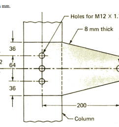 all dimensions are in mm holes for m12 x 1 75 bolts 8 mm thick 12 kn [ 2046 x 1238 Pixel ]