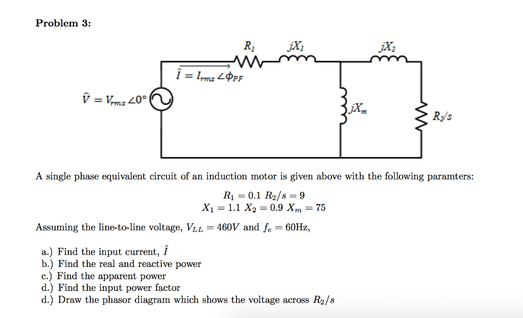 Equivalent Circuit Diagram Of Induction Motor